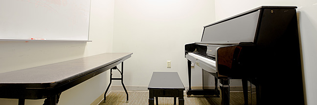 Sproul Hall music practice room