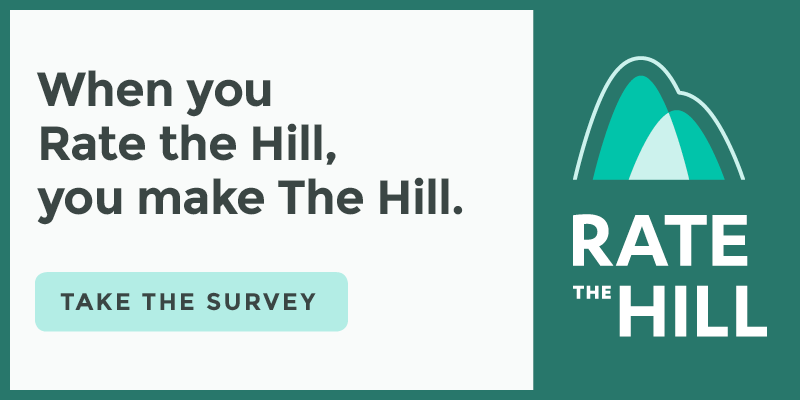 When you Rate the Hill, you make The Hill. Take Our Survey
